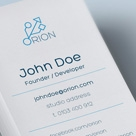 Creative Minimal Business Card - Orion