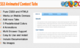 CSS3 Animated Content Tabs