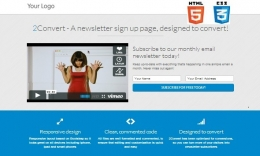 2Convert Responsive Landing Pages ( Html5&Css3 )