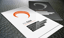 Hair - Black and White Business Card